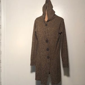 One A Hooded Cardigan